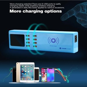Power Tool Sets USB Ports Charger SS-309WD Wireless 8 5V 1A Digital Display Charging Port For Phone Pad Sam Sung Hua Wei Xiao Mi Etc