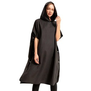 Microfiber Hooded Beach Towel Wetsuit Changing Bath Robe With Hood Watersports Supplies Fast Drying