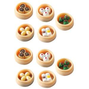 Bird Cages 10pcs Miniatures Food Models Mini House Hong Tea Restaurant Adornment