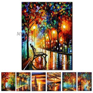 Paintings Wall Art Home Decoration Street Oil Painting Hand Painted Modern Abstract Decorative Picture Paint On Canvas