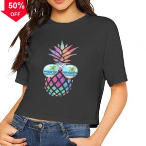 Cool Spring Summer Women's Tops Tees T-Shirt Mens Bear Print pineapple Fashion Casual Puzzle short sleeves FY2555
