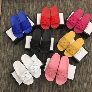 Designer Classical Hole Pantofole in gomma Diamide Sandali da uomo e pantofola da donna scarpe da spiaggia Sandalo antiscivolo antiscivolo con scatola