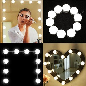 Makeup Lamp DIY Hollywood Style 10 LED Bulbs Touch Dimmer Switch Adjust Brightness Lighting Fixture Mirror Not Included