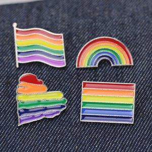 Rainbow LGBT Brooch Cartoon Heart Flag Sheep Mouse Enamel Pins Lesbians Gays Pride Badge Lover Clothes Lapel Pin Gift 74 U2