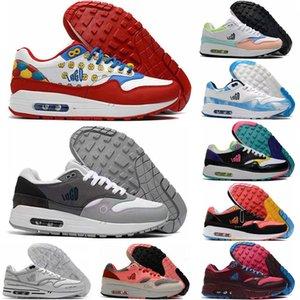 Moda hombres mujeres cojín de aire deportes zapato pareja transpirable zapatilla de deporte amante entrenador 1 zapatos de correr unisex clásicos al aire libre calzado de jogging