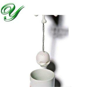جمجمة crossbones الشاي infuser سيليكون مصفاة فضفاض أوراق الشاي تصفية الشاي حبيب كأس القهوة القدح الإبداعية هدية حزب اللوازم هالوين