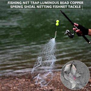 Taşınabilir Balıkçılık Net Tuzak Lu Nous Boncuk Bakır Bahar Shoal Netting Fishnet Mücadele Yok Yasa Fish Aracı Aksesuarları