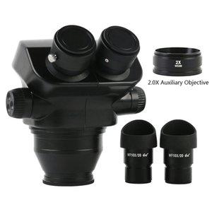 Other Lenses 7X-45X Upgrade 7X-50X Stereo Microscope Binocular Head + 0.5X 2.0X Barlow Objective Lens Accessories