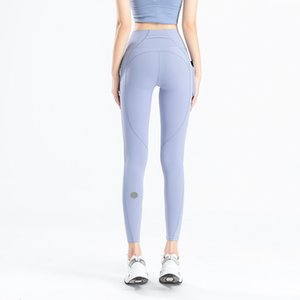 Side Leggings Align Canada Pocket Leggings Yoga Fabric Gym Yoga Professional Marque Align Designer De Double L Brushed Fabric Women Pan Ckxh