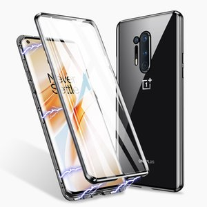 CASES 360 Degree Full Protecition Coverage 9H Tempered Glass Magnetic Clear Phone Case for Oneplus 8 Pro Oneplus8