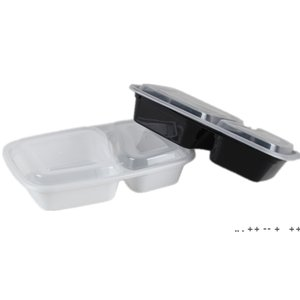 Disposable Take Out Container Lunch Box Microwave Oven Supplies 2-5 Compartments Reusable Plastic Container with Lid 50  PCS EWE9383