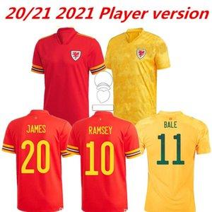 2021 Galles Soccer Jerseys National Team National Home Bale James Ramsey Hommes Allen Voyes Morrell Wilson B.Davies Camiseta Player version