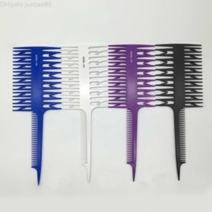 Peigne de teinture de cheveux professionnels mettant en évidence la brosse de cheveux poisson os peigne peigne paillis coiffure peigne salon salon coiffant outil