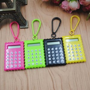 10pc stationery card portable mini handheld ultra-thin calculator Slim Pocket Small battery 6DSJ