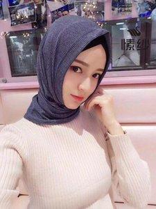 Простое стиль мусульманских женщин треугольник готов носить удобный хиджаб