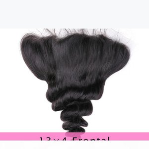 Brazilian Loose Wave 13x4 Ear To Ear Pre Plucked Lace Frontal Closure With Baby Hair Remy Human Hair Free Part Top Frontals