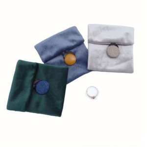 39s green boxes lry jewelry packaging boxes lipstickflannelette flip baglipstickeye shadowdouble faced velvet envelopessmall bag green flan