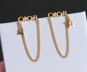 Мода кисточкой шарм серьги аретесы уха манжета для женщин вечеринка свадебные любовники подарка ювелирных украшений с коробкой HB318