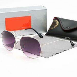 Luxury New Brand Polarized Designer Sunglasses Mens Women Pilot Sunglass UV400 Eyewear eyeglasses Metal Frame Polaroid Lens Sun Glasses
