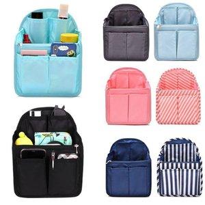 1 قطعة على ظهره إدراج منظم حقيبة الأداة متعددة جيب حقيبة يد الحقيبة تخزين المنظم new1