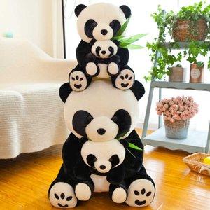 Baby holding baby giant panda plush toy children lovely doll Girl Gift