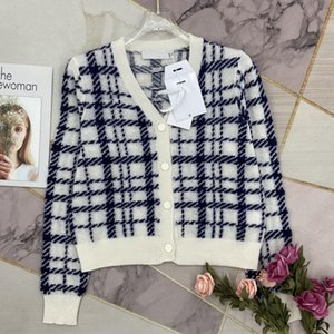 2021 Women S Knits & Tees Sweaters Luxury Cardigan Pullover Vest Casual Knit Short Sleeve Summer Fashion Wear Classic Pattern Lady Tops Knitwear Ladies Sweater-2