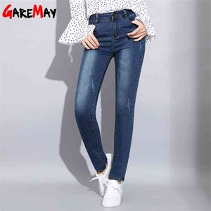 Garemay Mujeres Blue Jeans Stretch Classics Denim Pants Femen