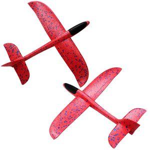 48 cm Büyük El Atmak EPP Köpük El Atma Uçak Lunder Planör Düzlem Oyuncaklar Çocuklar Için Parti Çantası Dolumları Uçan Planör Hediye OOD5556