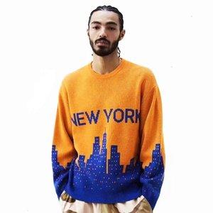 2020 women sweaters fashion winter hip hop sweater New Zealand 100% lamb wool yarn Jacquard technology embellished sexy all-match jumper
