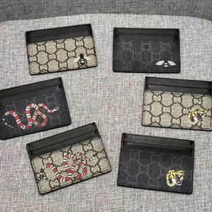 Men luxurys designers cardholder Holders Classic womens Casual Credit Card Holder G cowhide Leather Ultra Slim Wallet mens Women wallets size w10*h7