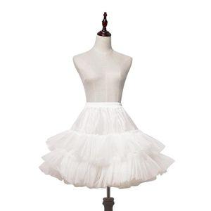 Women's Sleepwear White Lolita Petticoat Short Tiered Organza Pettiskirt
