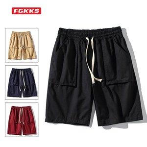 Men's Shorts FGKKS Mens Summer Breeches Fashion Street Wear Big Pocket High Quality Sweatpants Beach Sports Loose Men Cotton