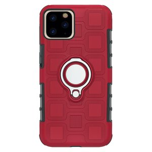 Suitable for iphone 11 pro max cases multi-function anti-fall ring bracket mobile phone protective cover car magnetic holder