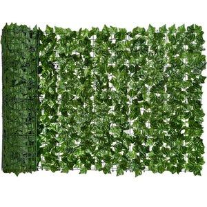0.5x3m Ivy Artificial Privacidad Pantalla de cerca Sebes y Faux Vine Hoja Decoración para decoración al aire libre Jardín Decorativo Flores Guirnaldas