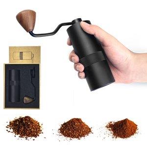 Moedor de café manual com ajuste ajustável de aço inoxidável de aço inoxidável Burr moinho para café expresso, francês imprensa máquina de fresagem portátil XBJK2103
