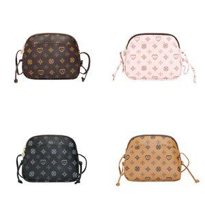Fashion Shell Handbag Kids Girls Luxurys Printed Mobile Phone Bags Mini Purses Wallet One Shoulder Slanting Cross Bag For Children 2365 Y2