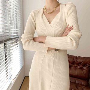 Robe Kiesza Lyte Vintage Vintage Sexy Femelle Sleeve V Robes de fête divisées en robes de mode