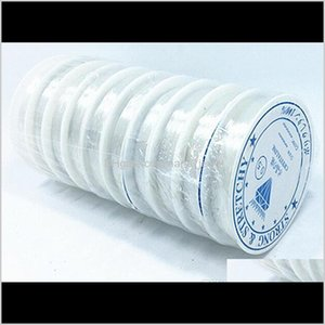 Shipping 10Rolls Lot White Stretch Elastic Cords Beading Cords For Diy Craft Jewelry Findings Components Ws38 Coio7 Sjr6X