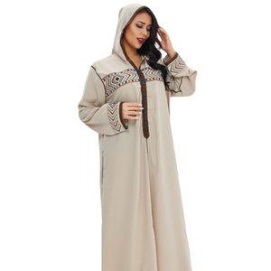 Ramadan Turquía Vestido musulmán Mujer elegante con capucha Abaya Marruecos Kaftan Ropa Islámica Hijab Djellaba Dubai Jilbab Vestidos