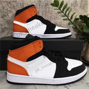 2021Top Quality Jumpman 1 1s High Travis Fearless Obsidian UNC Shoe Mens Womens Basketball Shoes Banned Bred Toe Chicago Boy Girl Running Sneakers