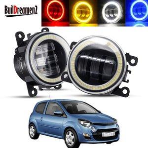 Other Lighting System 2 X Angel Eye Fog Light Assembly Car LED Lens Driving Lamp DRL 30W H11 12V For Twingo II Hatchback CN0 2007-20