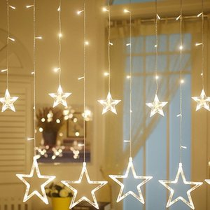 Christmas Decorations Light Home LED Indoor Outdoor Icicle Star String for Party Wedding Decor Fairy Lights Curtain Lamps A09X