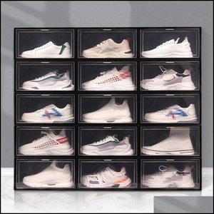 Boxes Bins Storage Housekee Organization Home & Gardenfoldable Plastic Box Thicker Dustproof Stackable Shoebox Transparent Der Sort Out Shoe