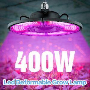 E27 Light Light 100W 200W 300W 400W Высоко яркости Светодиодные фонари AC85-265V Деформируемая лампа для растений Внутренняя Гидропоническая палатка