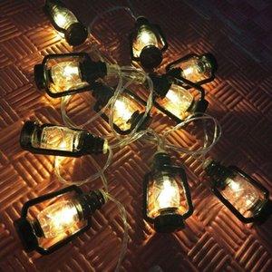 Strings LED Retro Kerosene Lamp String Lights Fairy Battery-operated Garland For Decoration Christmas Home