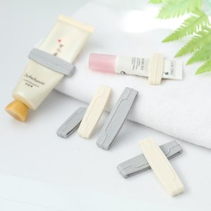 Toothbrush Holders 3 Pcs Multipurpose Squeeze Ease Tube Squeezer Toothpaste Clip Random Color