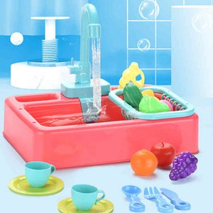 Children Washing basin Tableware Set Toys Children Simulated kitchen Toys Set Educational playhouse Games Prop Washing basin Washing suit