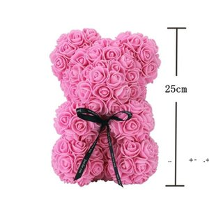Roses Teddy Bear Artificial Soap Flowers to Mothers Gift Girlfriend Anniversary Christmas Valentine's Day Birthday Present FWE9440