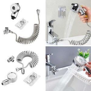 Portable Handheld Splash Shower Tub Sink Faucet Attachment Washing Sprinkler Head Kit Pet Spray Hose Bath TapH0916