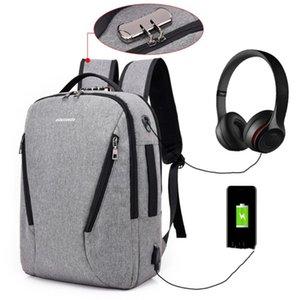 Anti-theft Design Backpack For Men 2021 Fashion Trend Ladies Nylon Laptop Large Capacity Business Travel School Bag Sac